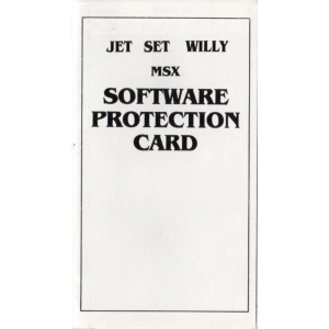 Jet Set Willy (1984, MSX, Software Projects)