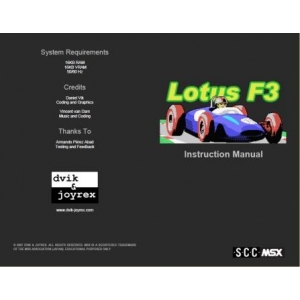 Lotus F3 (2007, MSX, dvik & joyrex productions)