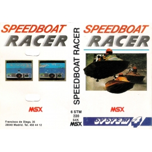 Speedboat Racer (1987, MSX, The Bytebusters)