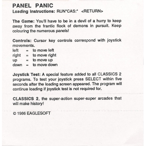 Panel Panic (1986, MSX, The Bytebusters)