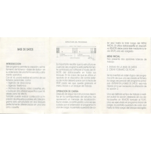 Base de Datos (1985, MSX, Ace Software S.A.)
