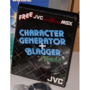 Character Generator + Blagger (1985, MSX, Victor Co. of Japan (JVC))