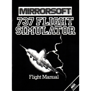 737 Flight Simulator (1984, MSX, Salamander Software)