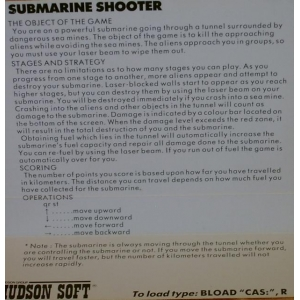 Submarine Shooter (1983, MSX, Hudson Soft)