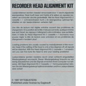 Recorder Head Alignment Kit (1985, MSX, The Bytebusters)