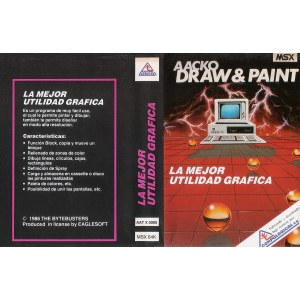 Aacko Draw & Paint (1986, MSX, The Bytebusters)