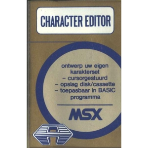 Character Editor (1985, MSX, Aackosoft Edusystems)
