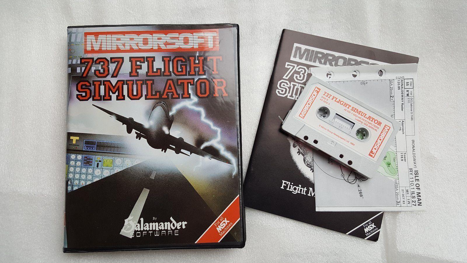 737 Flight Simulator (1984, MSX, Salamander Software