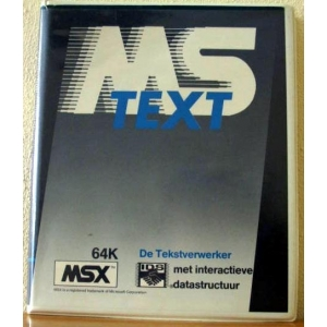MS Text (1985, MSX, Aackosoft)