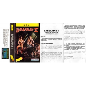 Barbarian II - The Dungeon of Drax (1988, MSX, Palace Software)
