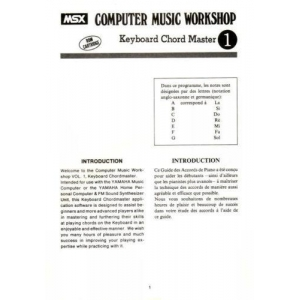Computer Music Workshop 1 - Keyboard Chord Master (1984, MSX, YAMAHA)