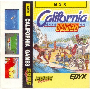 California Games (1987, MSX, Epyx)