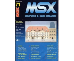 MSX Computer and Club Magazine 71 - Aktu Publications