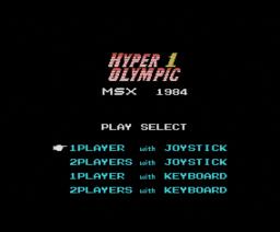 Track & Field 1 (1984, MSX, Konami)