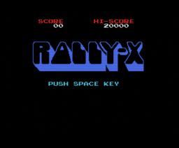 Rally-X (1984, MSX, NAMCO)
