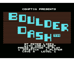 Boulder Dash (1985, MSX, First Star Software)