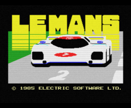 Le Mans (1984, MSX, Electric Software)