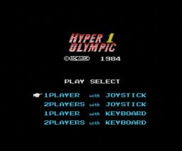 Hyper Olympic 1 (1984, MSX, Konami)