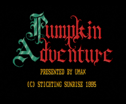Pumpkin Adventure III - Hunt for the Unknown (1995, MSX2, Umax)