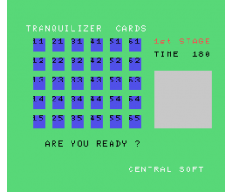 Tranquilizer Cards (1984, MSX, Central education)