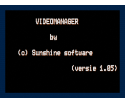 Video Manager (1993, MSX2, Sunshine Software)