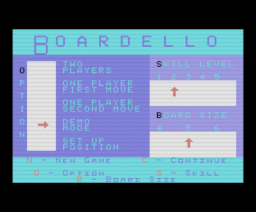 Boardello (1985, MSX, Bubble Bus)