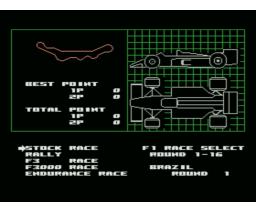 F-1 Spirit (1987, MSX, Konami)