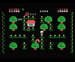 Checkers in TanTan Tanuki (1985, MSX, Pony Canyon)