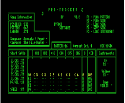 Pro-Tracker (1992, MSX2, Tyfoon Software)