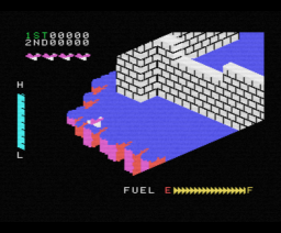 Zaxxon (1985, MSX, Electric Software)