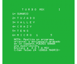 Turbo MSX Ano.2 Vol.1 (MSX, GEASA)