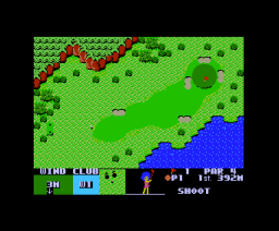 Queen´s Golf (1984, MSX, ASCII Corporation)