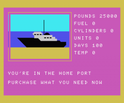 North Sea Bullion Adventure (1985, MSX, AA Software)