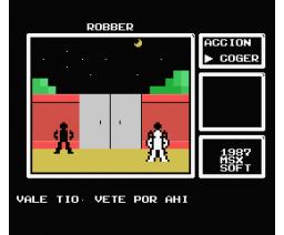 Robber (1986, MSX, Grupo de Trabajo Software (G.T.S.))