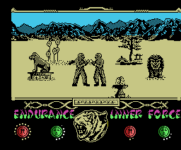 The Way of the Tiger (1986, MSX, Gremlin Graphics)