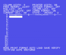 Spreadsheet (1985, MSX, Kuma Computers)