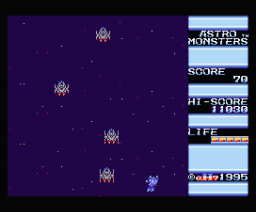 Astro Monsters (1995, MSX2, αH7)