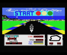 TT Racer (1987, MSX, Methodic Solutions)