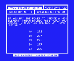 Chemistry 'O' Level Examiner (1984, MSX, Shield Software)