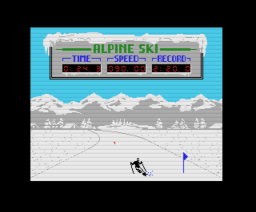 Alpine Ski (1987, MSX, Double Brain!)