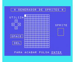 Generador de sprites (1984, MSX, J. Sánchez Armas)
