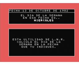 El Dia de la Semana (1985, MSX, Infopress)