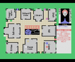 Cluedo (1986, MSX, Leisure Genius)