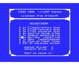 Turbo 5000 (1987, MSX, MSX2, Arcksoft)