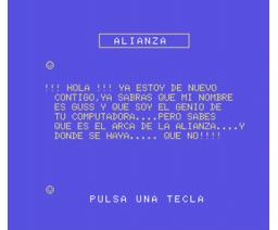 En Busca del Arca de la Alianza (1985, MSX, Creativos Editoriales)