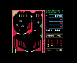 Thunder Ball (1985, MSX, ASCII)