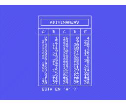 Adivinanzas (1985, MSX, Load 'n' Run)