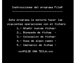 Ficheros (1985, MSX, Indescomp)