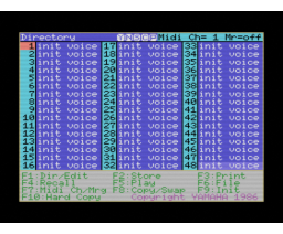 DX7 Voicing Program II (1986, MSX, YAMAHA)