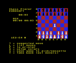 Chess Player (1988, MSX, Eurosoft)